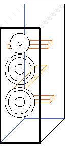 Напольная двухполосная система с двумя НЧ динамиками
